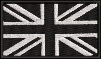Monochrome Union Jack Embroidered badge